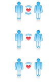 Love Symbols: men and women. Stock Image