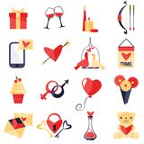 Love symbols set Stock Images
