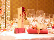 Love Table setting Royalty Free Stock Photography