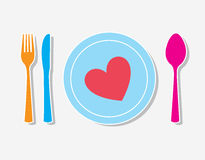 Love tableware Royalty Free Stock Photography