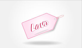 Love tag Royalty Free Stock Photo