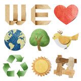 We love tag recycled paper. Craft stick on white background Data source: NASA vector illustration