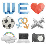 We love tag recycled paper Royalty Free Stock Images