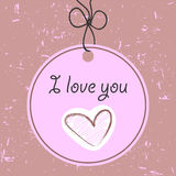 Love tag romantic card Royalty Free Stock Photo