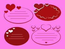 Love Tags_Pink Stock Photos