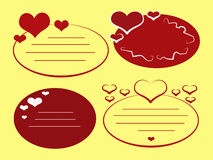 Love Tags_Yellow Royalty Free Stock Images