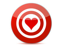 Love target. Illustration design isolated over a white background Royalty Free Stock Photos