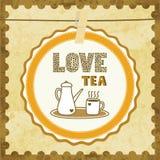 Love tea card2 Royalty Free Stock Photography