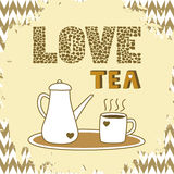 Love tea card3 Stock Images