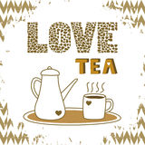 Love tea card4 Stock Images