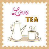 Love tea card4 Stock Photos