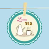 Love tea card5 Royalty Free Stock Photos
