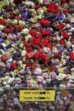 Love tea. Mixed herbal tea called love tea at bazaar in istanbul Royalty Free Stock Photography