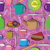 Love Tea Seamless Pattern_eps Stock Photo