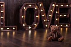 Love& Teddy Bear Fotografía de archivo libre de regalías