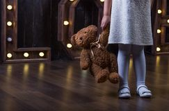 Love& Teddy Bear Imagen de archivo libre de regalías