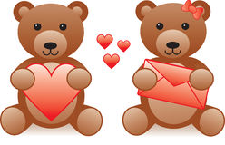 Love teddy bear Stock Image
