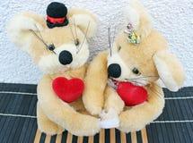 In love teddy bears Stock Photography