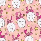 Love teeth seamless pattern Royalty Free Stock Image