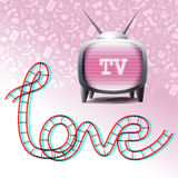 Love television symbols Stock Images