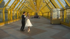 Love and tender of wedding tango dance stock footage