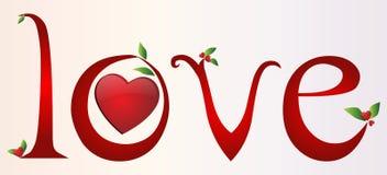 Love text Royalty Free Stock Photos