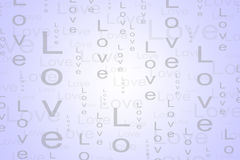 Love Text Background in Light Purple Color. Background for many event such as Valentine, Birthday, Wedding and other love event Stock Photo