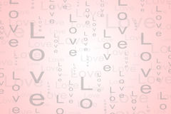 Love Text Background in Light Red Color. Background for many event such as Valentine, Birthday, Wedding and other love event Royalty Free Stock Image