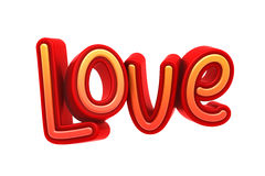 Love Text, 3D Illustration of High Resolution Rendering Royalty Free Stock Image