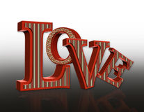 LOVE text 3 dimensional Royalty Free Stock Photo