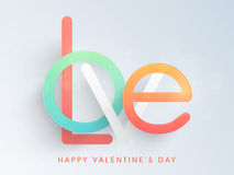 Love text for Happy Valentines Day celebration. Royalty Free Stock Photo