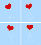 Love Text With Heart balloon Royalty Free Stock Photos