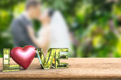 Love text with heart shape Royalty Free Stock Image