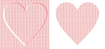 Love text with hearts Stock Photos