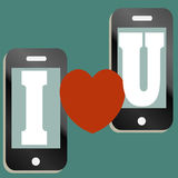 Love text message design Royalty Free Stock Photo