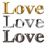 Love text metal effect Stock Photography