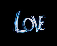 Love Text Painted with Light Stock Photos