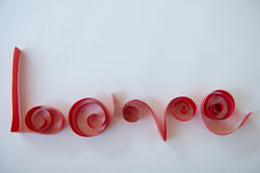 LOVE text from red paper Royalty Free Stock Photo