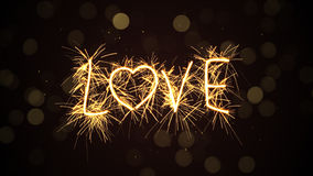 Love text sparkler Royalty Free Stock Photo