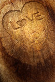 Love text on  wooden background Royalty Free Stock Photos