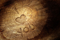 Love text on  wooden background Stock Photo