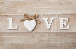 Love text Royalty Free Stock Photography