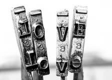 Love text Stock Photo