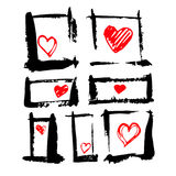 Love. The texture of the hearts. Painted a beautiful heart. Live lines Stock Photo
