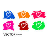 Love. The texture of the hearts. Painted a beautiful heart. Live lines Stock Images