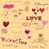 Love theme background vector illustration
