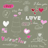 Love theme background royalty free illustration