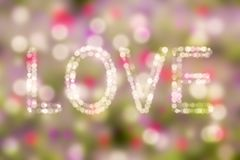 Love theme concept bokeh bacground i love you Valentine`s background Royalty Free Stock Photo