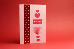 Love theme handmade gift card Royalty Free Stock Photography