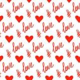Love theme. Handmade hearts Stock Photos